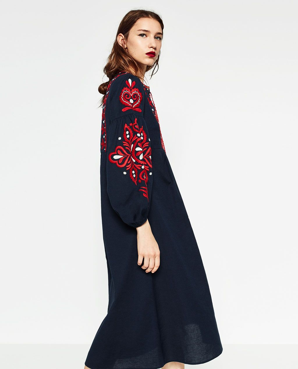 New dress!!! ZARA - WOMAN - LONG DRESS  Damen lange kleider