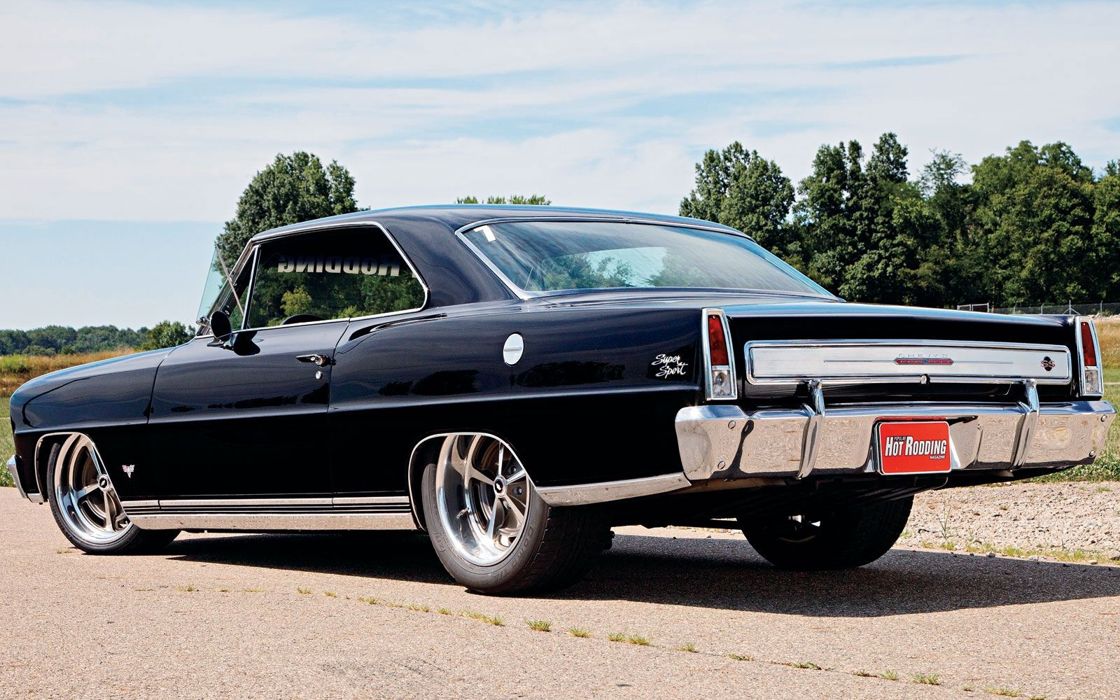 This gorgeous 67 chevy nova built by schwartz performance is powered by a 650hp ls7 mated to a tremec 6 speed manual transmission it rides on a