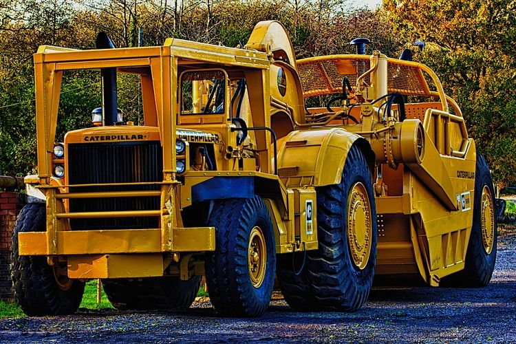Caterpillar 666 Motor Scraper Bigger Than A 657 Heavy