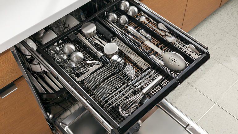 Ge dishwashers gain a modular third rack kitchen tech