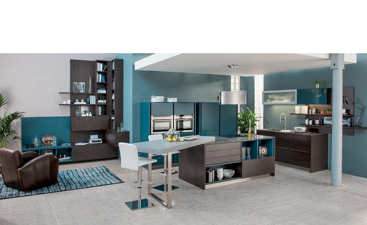 cuisine design arcos twin 2 loft au d cor la fois industriel et sophistiqu un am nagement. Black Bedroom Furniture Sets. Home Design Ideas