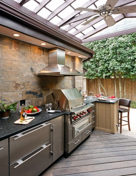 Best 25 Covered Outdoor Kitchens Ideas On Pinterest