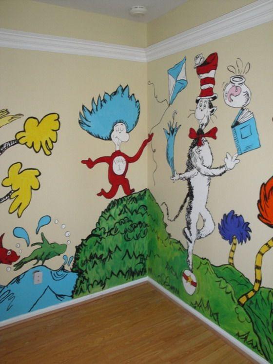 Colorful Kids Room Wall Kid S Dr Seuss Nursery