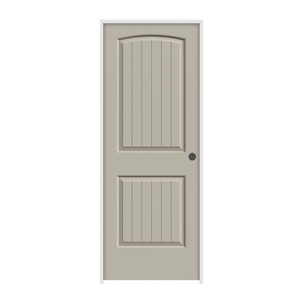 Molded smooth panel arch plank desert sand solid core composite single prehung interior door also jeld wen in  rh pinterest