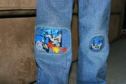 How to Patch Jeans with IronOn Patches Patched jeans Patches and