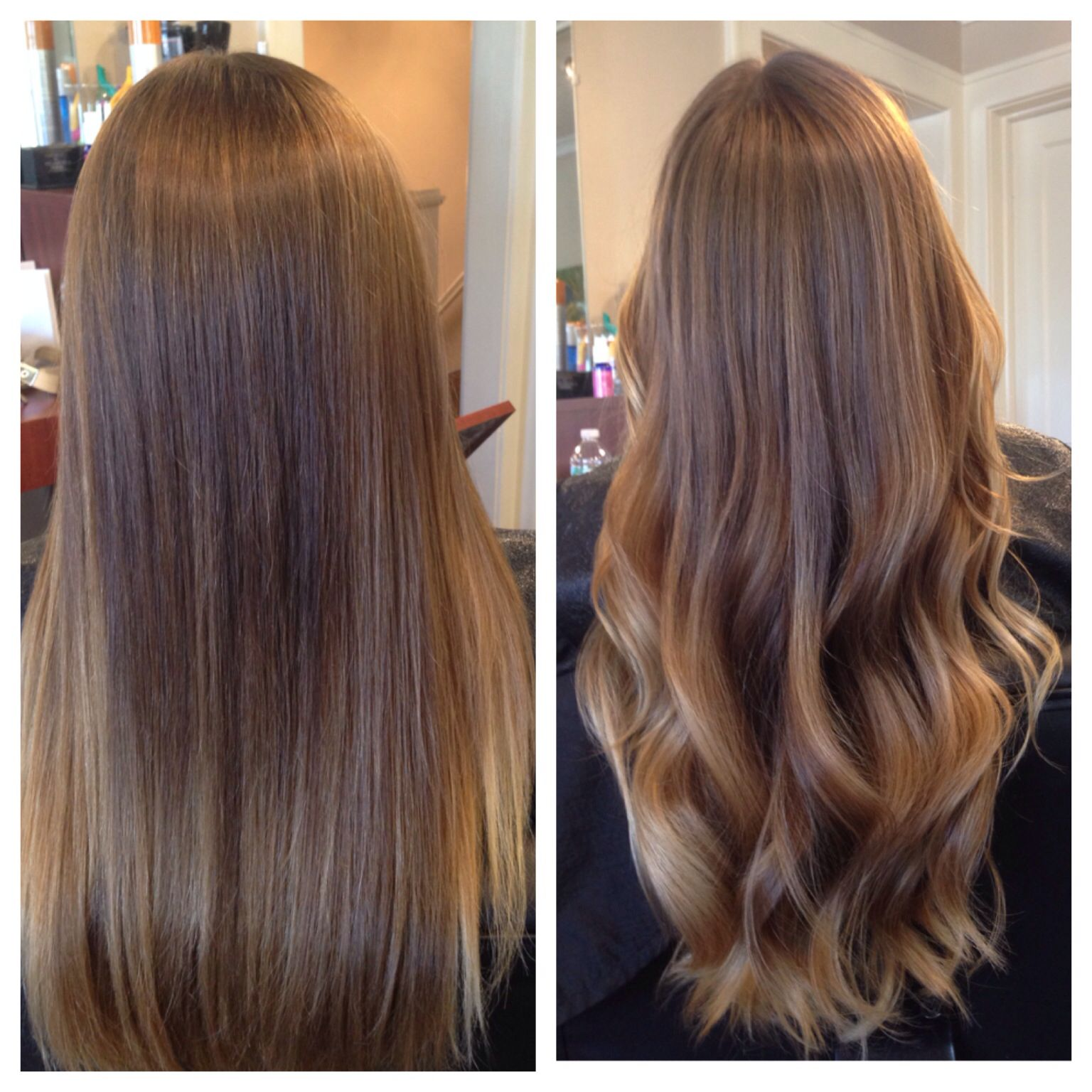 Balayage ombre done well means you can go straight or wavy for What does ombre mean