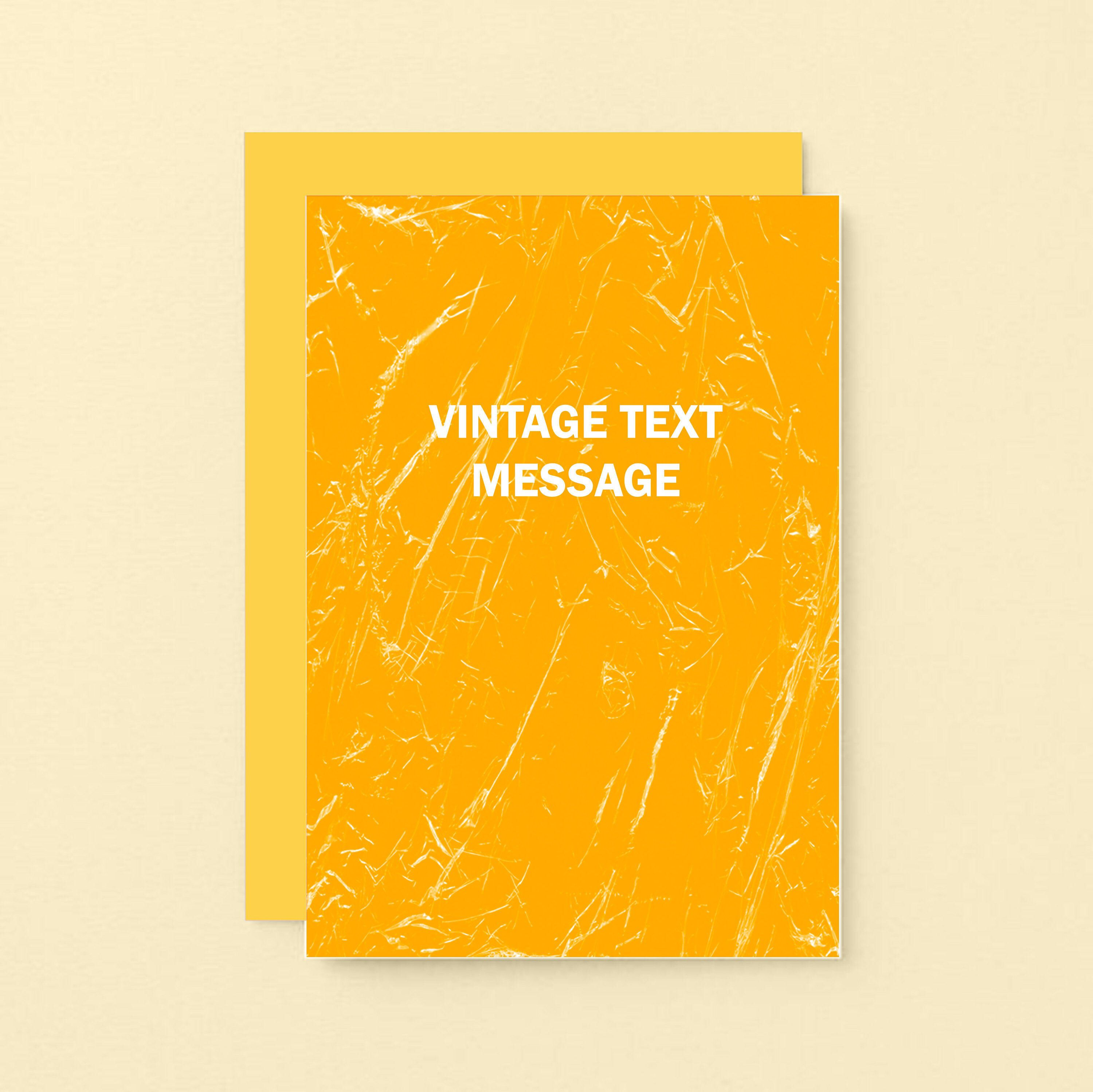 Vintage Text Message Card For Friend Birthday Card Congratulations New Job Funny New Home Card Graduation Bon Voyage Se3060a6 In 2020 Birthday Cards For Friends Message Card Vintage Text