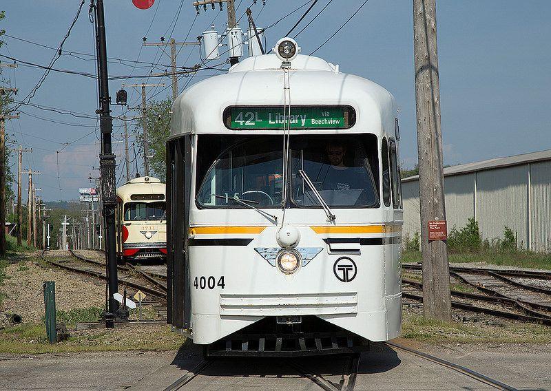 Port Authority Transit PCC 4004   trolleys, etc    Light rail, Cars
