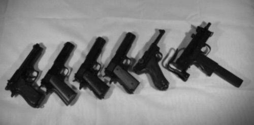 gun, grunge, and black image