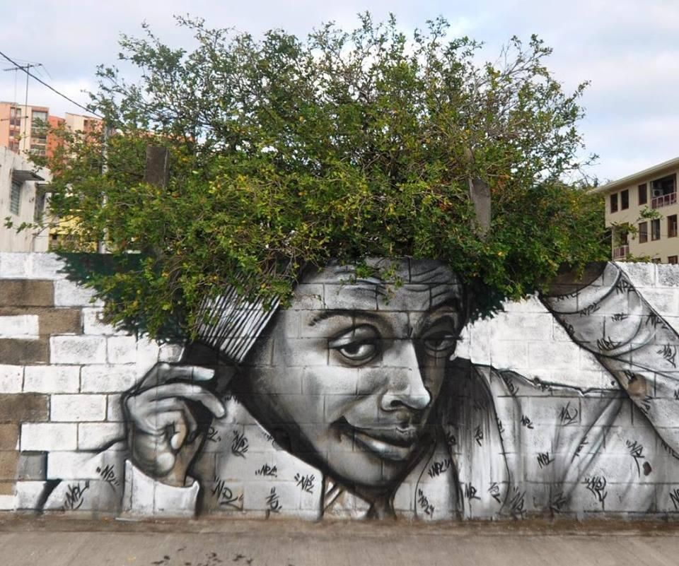 Bekannt Street art, graffitti, man, male, tree, hair, mixture, imaginative  IJ73