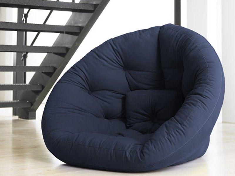 Futón-sillón azul