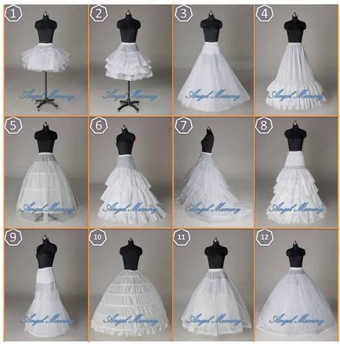 distintos tipos de cancan , o enaguas para armar vestidos | ideas de