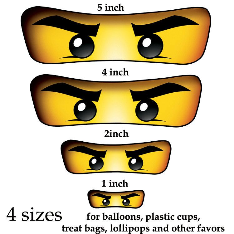 picture about Printable Ninjago Eyes identify Ninjago eyes ( 4 measurements ) -for Balloon, Stickers, Lollipop