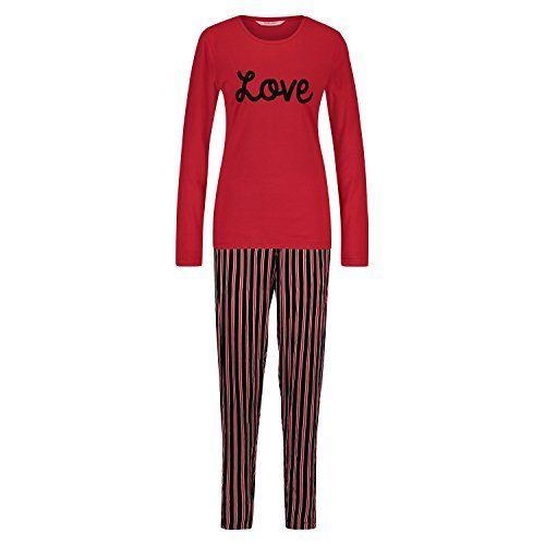 13593c943e05eb Hunkemöller Damen Pyjama Stripe Love 119149 Rot L | Für Zuhause ...