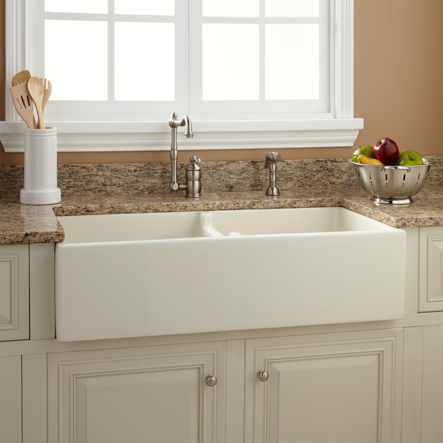 Risinger Sink >> 36 Risinger 60 40 Offset Bowl Fireclay Farmhouse Sink Smooth