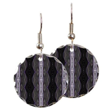 Black Lacey Abstract Earrings #cafepress #jewelry #earrings #gifts