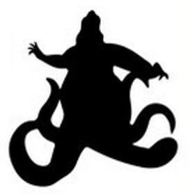 Ursula The Little Mermaid Silhouette Little Mermaid Silhouette Disney Silhouettes Mermaid Decal Select 100 images or less to download. little mermaid silhouette disney