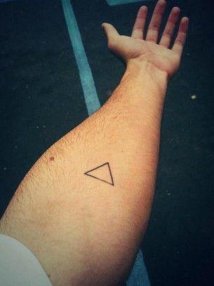 Triangle Tattoo On Inside Forearm Whatever Triangle Tattoos