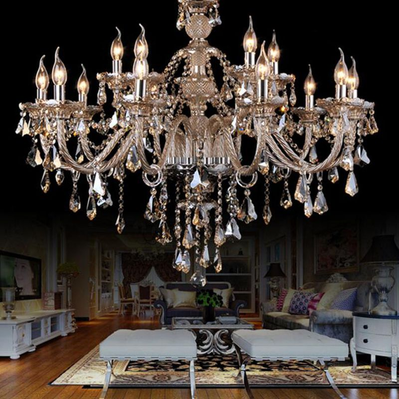 Buy ceiling lights chandelier crystal cognac color luxury modern 2 buy ceiling lights chandelier crystal cognac color luxury modern 2 tiers living 15 lights with lowest mozeypictures Images
