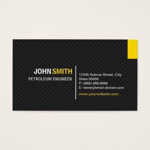Petroleum engineer modern twill grid business card business petroleum engineer modern twill grid business card colourmoves