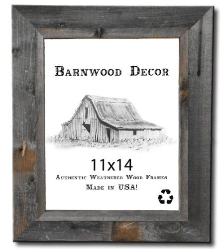 11x14 Picture Frames - Signature Barnwood Reclaimed Wood Photo ...