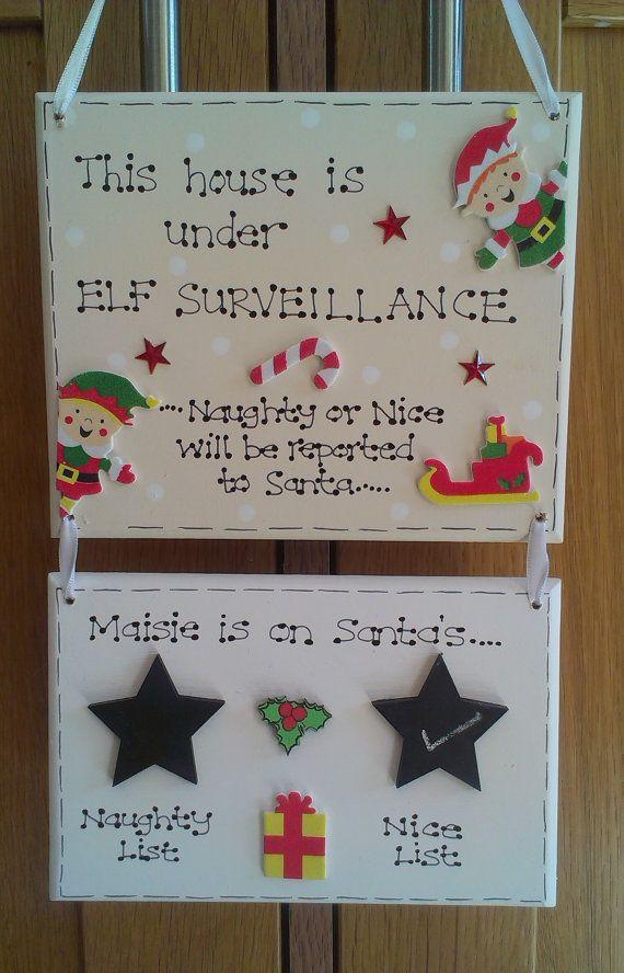 Christmas Naughty Or Nice Chart.Personalised Christmas Elf Naughty Nice List Behaviour