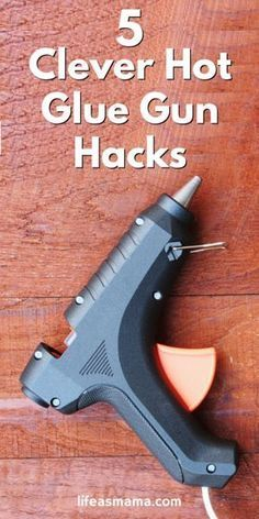 Want to put your glue gun to use, for more than just crafts? There are tons of great hacks, from improving your hangers to making non-slip shoes! Check out this list.