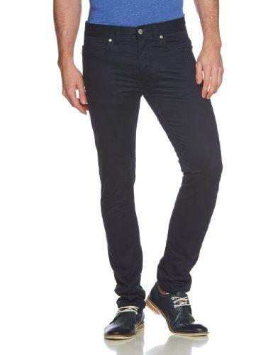 JACK & JONES Herren Slim Hose TIM ORIGINAL BLACK NAVY, Gr. 52 (Herstellergröße: 33/32), Blau (Black Navy)