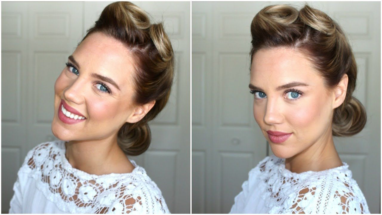 1940s Hairstyle Victory Rolls Roll Hairstyle Victory Roll Hair 1940s Hairstyles For Long Hair