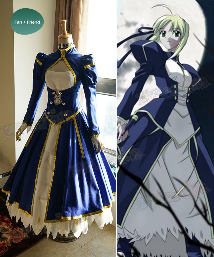 Well made Saber combat outfit in navy blue high quality decent price providing custom size making express shipping & Fate Stay Night Cosplay Saber Combat Outfit Costume   Commissions ...