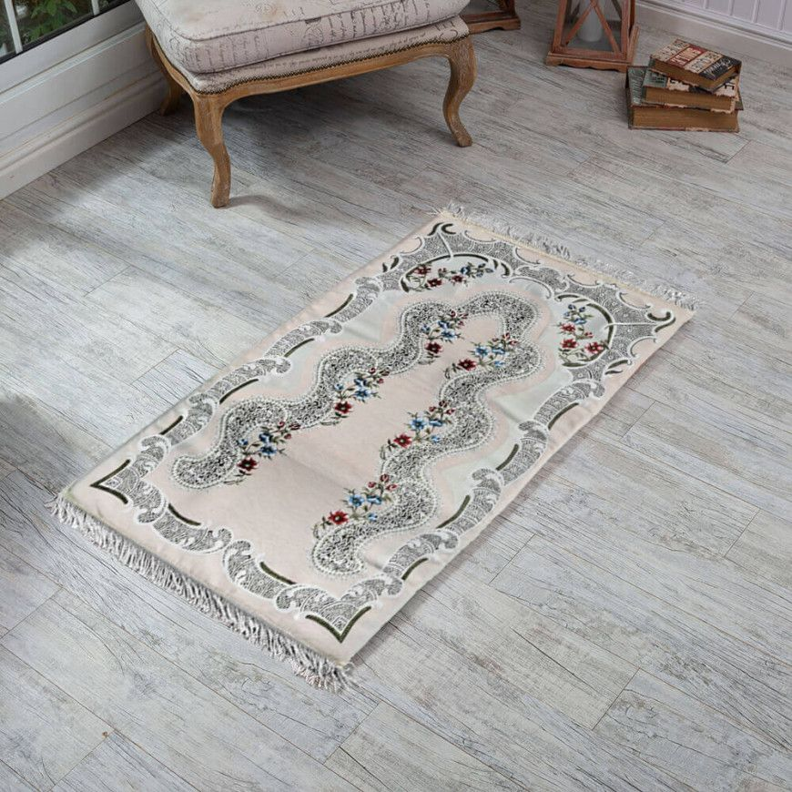 سجادة صلاة فوم طبية مورد بيج فاتح Bohemian Rug Carpet Rugs