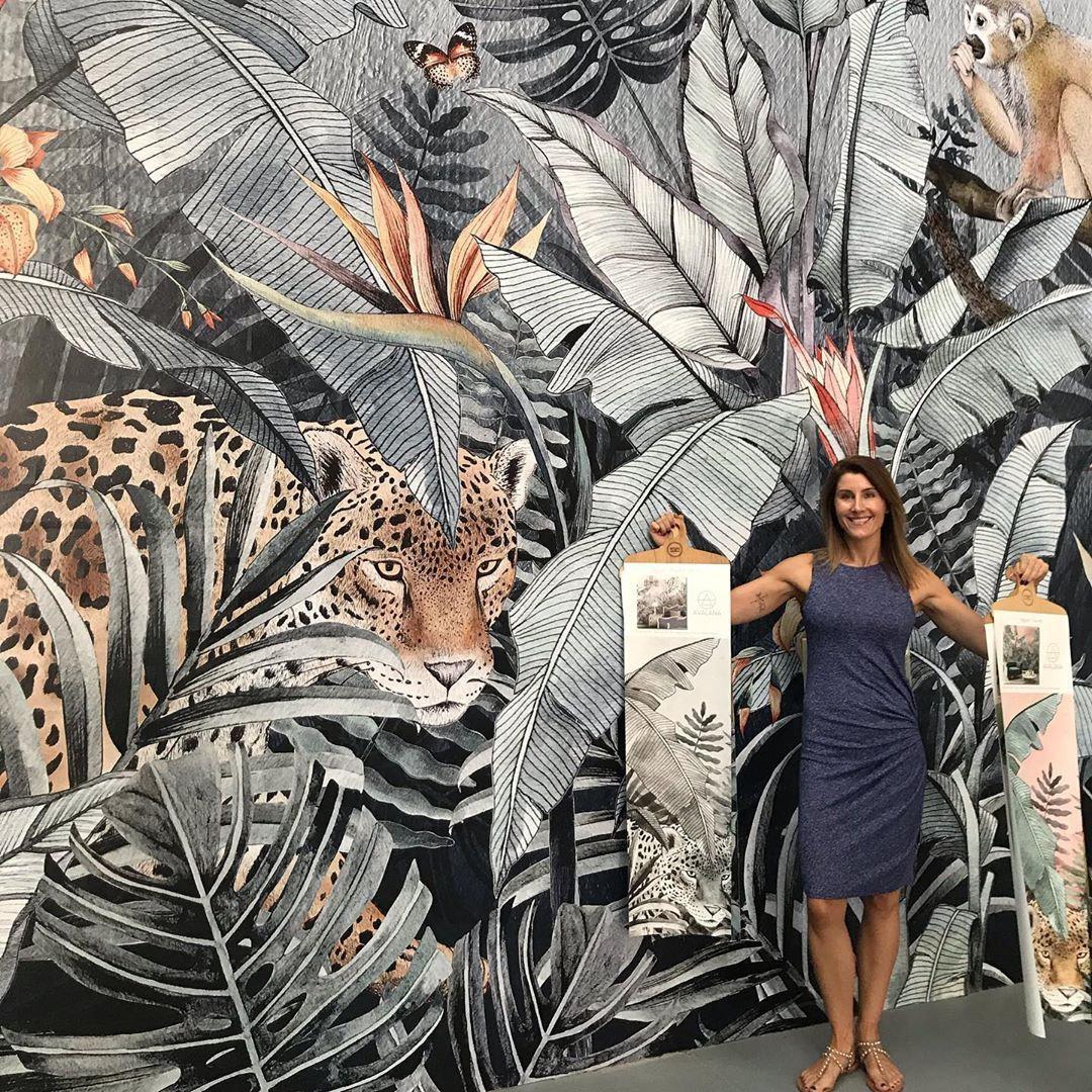 Origin Wallpapers On Instagram Here S Kylie From Design Edge Co In Their New Retail Space Design Edge Co Are Our Perth Res Wallpaper Retail Space Stunning