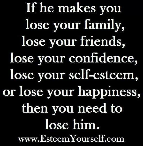 losing self esteem in a relationship