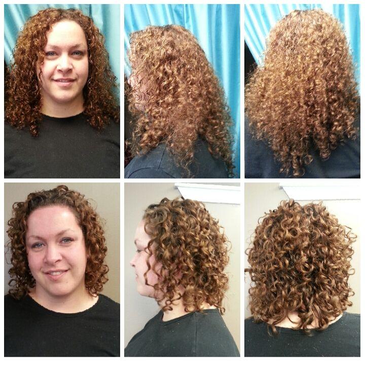Medium To Short Hair Beforeandafter Shortcurlyhairstyles Happyhair Happyclient Short Curly Hair Curly Hair Styles Happy Hair