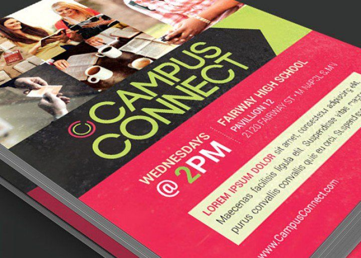 Campus Connect Church Flyer Template is for any kind of