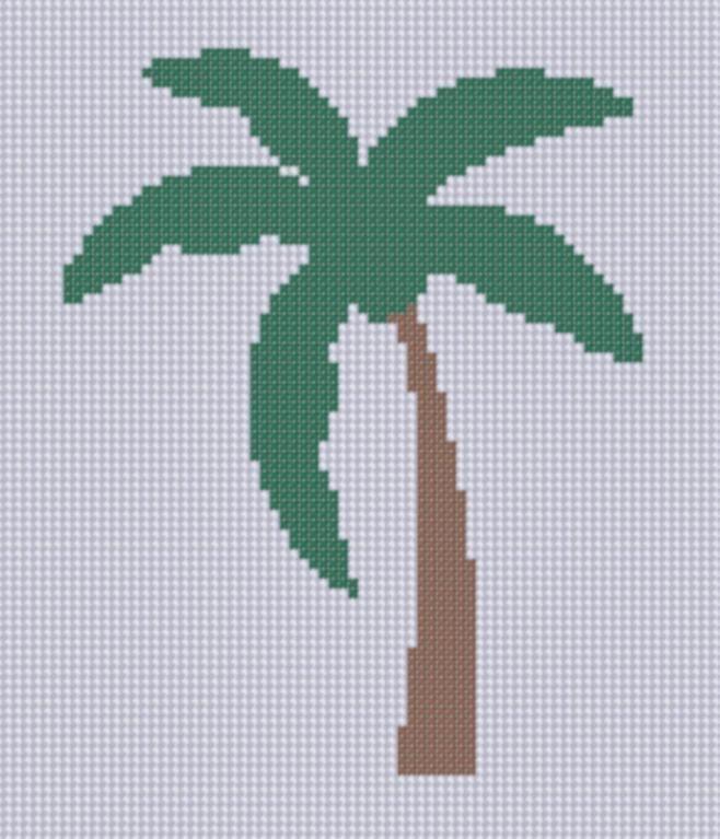 Palm Tree 2 Cross Stitch Pattern Cross stitch, Stitch ...