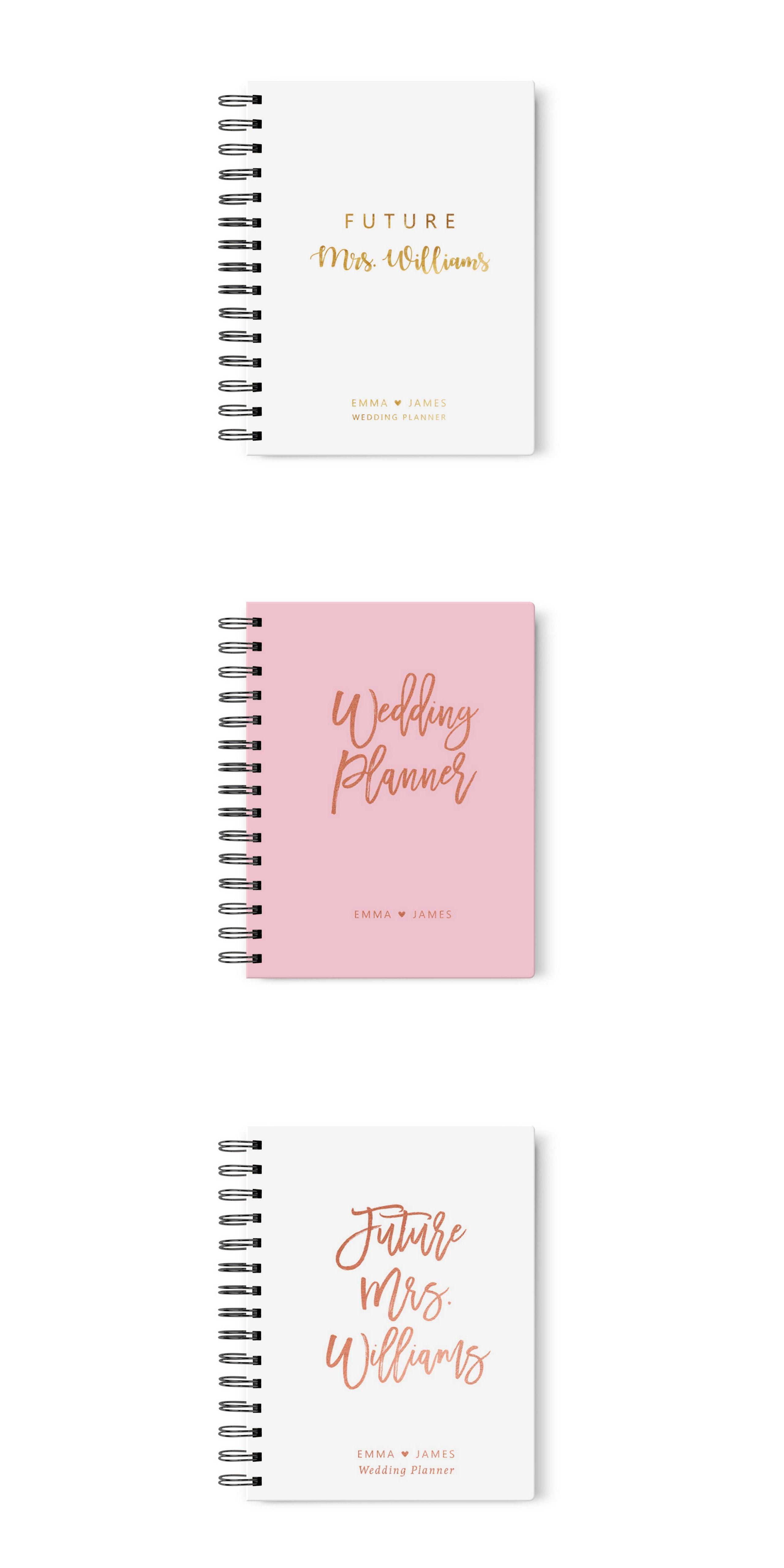 Wedding notebook Wedding Journal Personalized Bridal journal custom Wedding journal simple modern Personalized journal