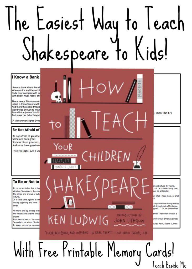 Teaching Shakespeare To Kids Teaching Shakespeare Shakespeare Lessons Teaching