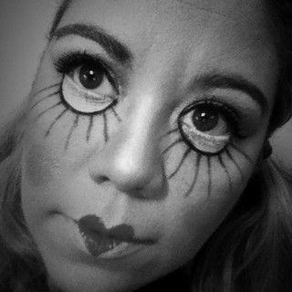 Halloween doll makeup by elvia montemayor, via Flickr