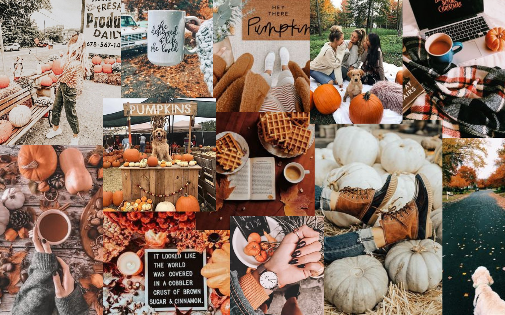 Fall Computer Wallpaper Collage Computer Wallpaper Thanksgiving Wallpaper Laptop Wallpaper