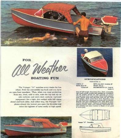 Crestliner 1958 Vintage Boat Motor And Trailer 900 Wisconsin