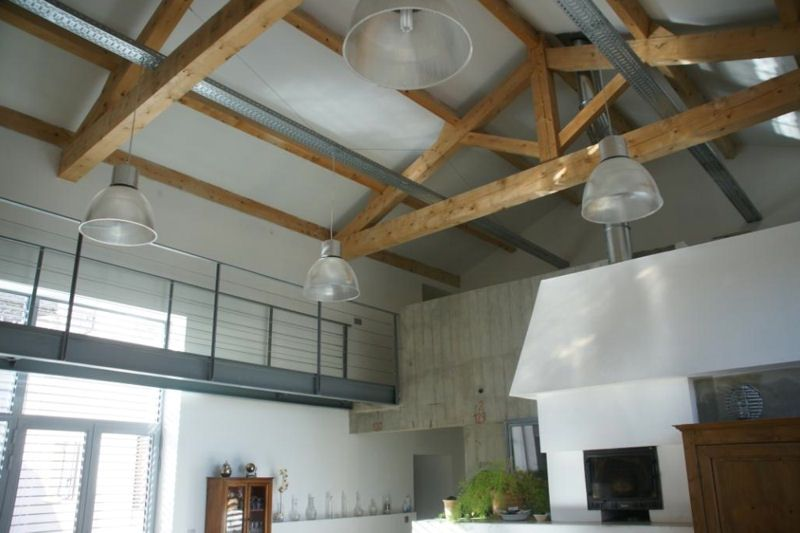 déco plafond cathédrale poutres loft  Ideas for the House  Pinterest  Déco