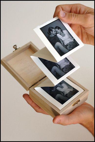 album in a box.