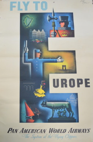 Europe - Pan Am, Jean Carlu ~ 1947