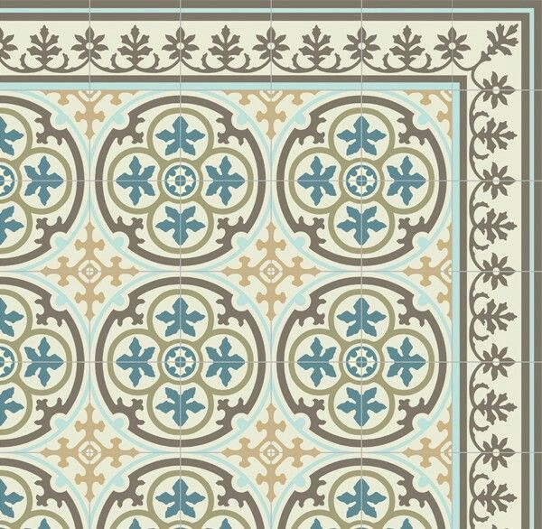 Pvc Vinyl Mat Tiles Pattern Decorative Linoleum Rug Blue And - Vinyl matte fliesen