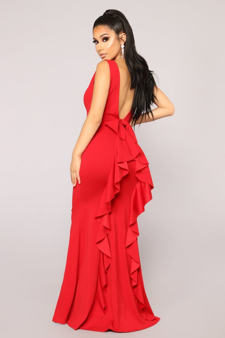 Such A Lady Ruffle Dress Red Red dress, Red dress