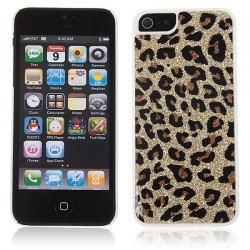 $2.66 Fashion Designer Shining Leopard Style Plastic Hard Case Cover for iPhone 5 (Golden)