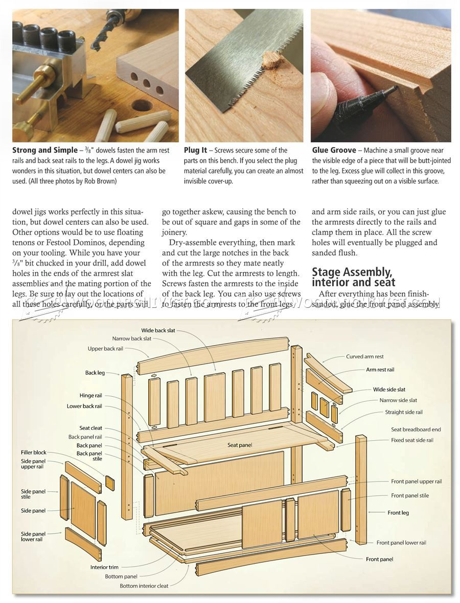 Deacons Bench Plans - Furniture Plans | make | Pinterest | Bancos
