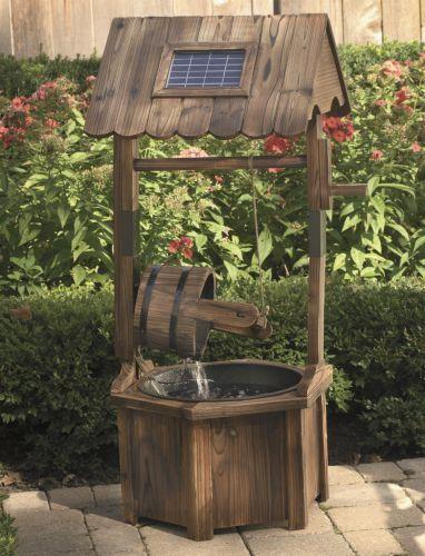 Solar Wishing Well Fountain From Seventh Avenue Rustic Nature Decor Diy Solar Fountain Solar Fountain