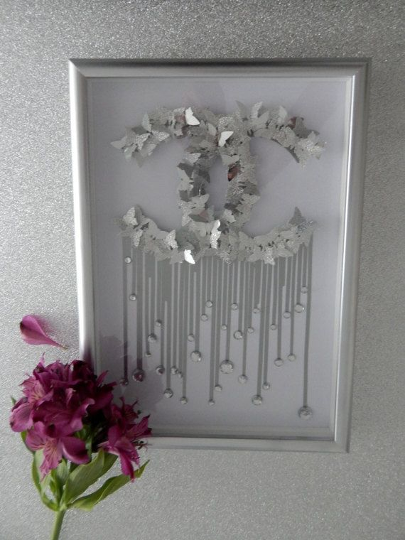 Silver Picture For The Home Chanel Glitter Picture Cc Home